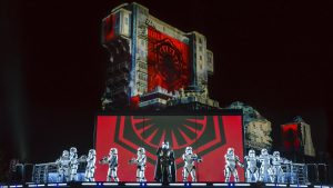 La Saison. de la force Star Wars en 2017 et 2018 à Dinseyland Paris : spectacles et illuminations