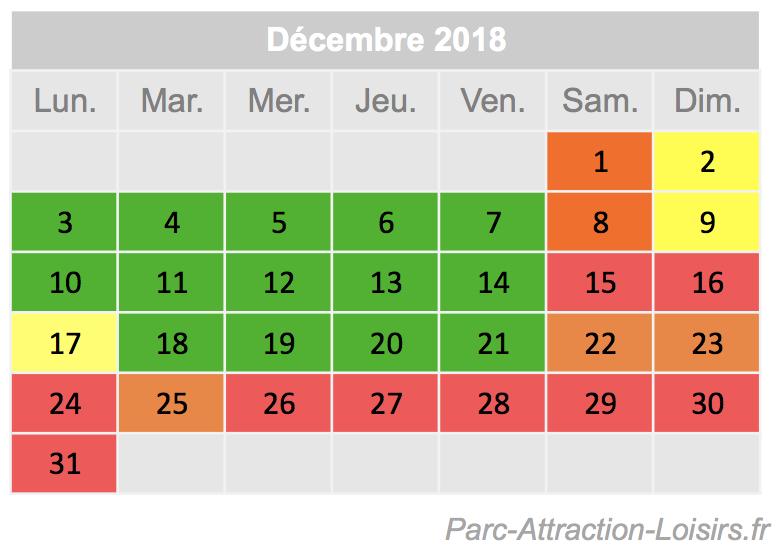 Calendrier Frequentation Disney.Calendrier Previsionnel De La Frequentation 2019 Au Parc