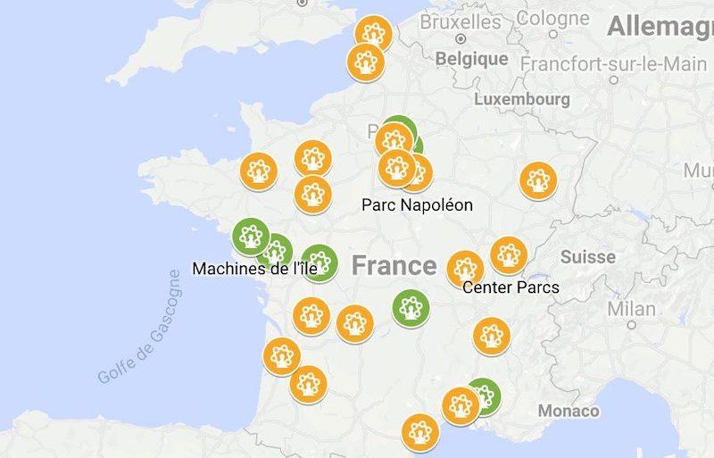 parc d attraction france carte Plus de 15 projets de parcs d'attractions et de loisirs: carte et