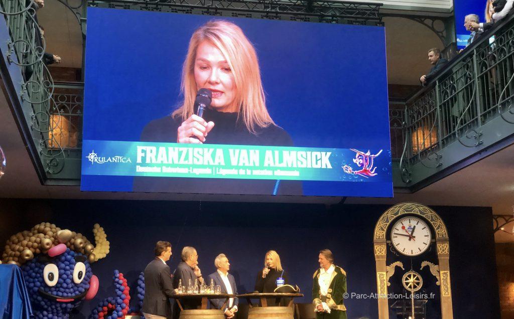 championne natation inauguration rulantica Franziska Van Almsick