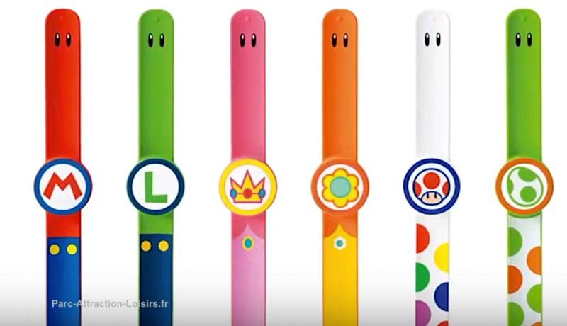 photo bracelet interactif Power Up band parc Universal Super Nintendo World