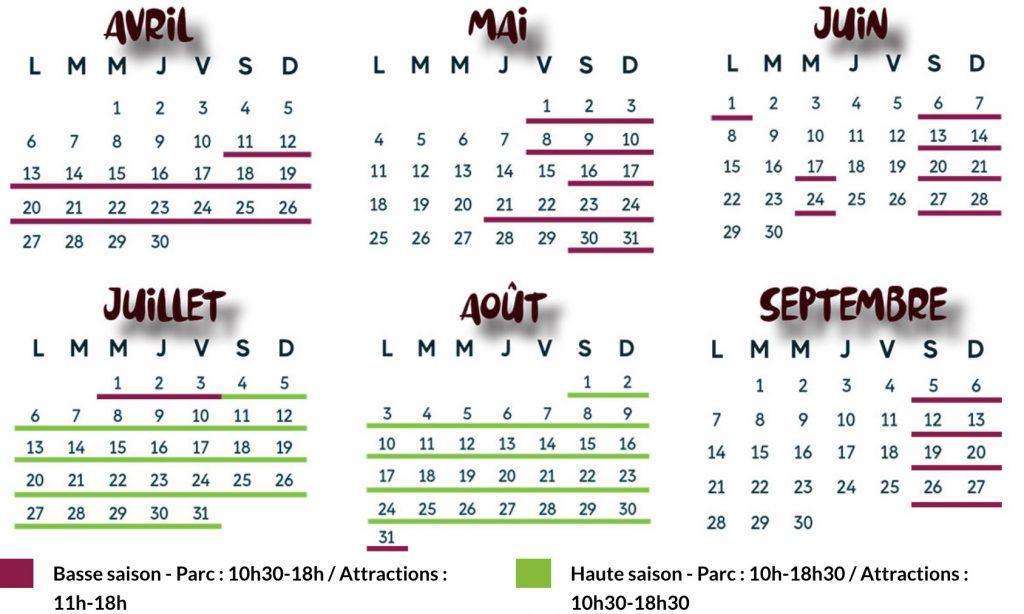Date d'ouverture et horaires de Papea Parc : le calendrier