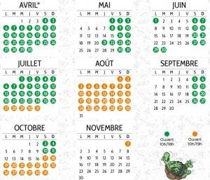 dates ouverture parc spirou et horaires