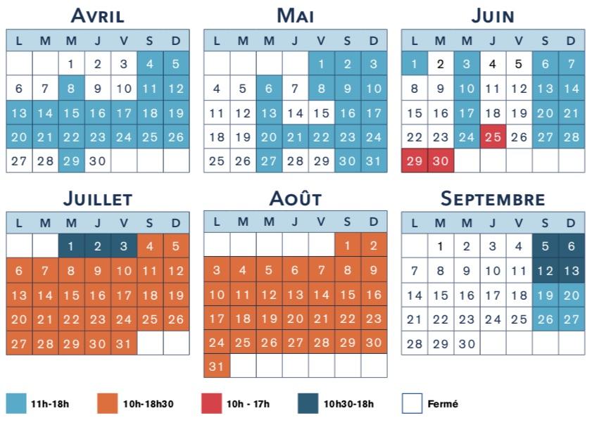 calendrier d'ouverture du parc Festyland de Normandie