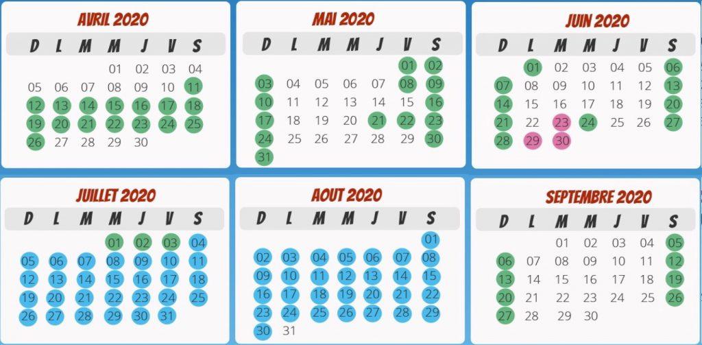 Date ouverture Kingoland calendrier 2020