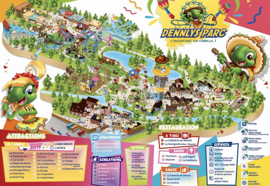 plan Dennlys Parc et attractions