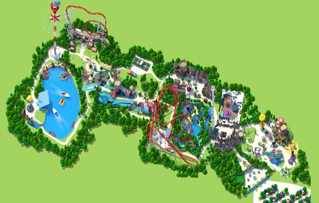 plan Holiday park et attractions