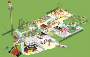 Plan des attractions du parc Spirou