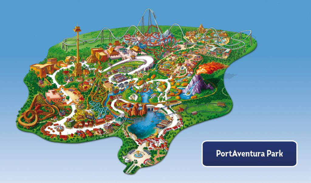 Plan parc Port Aventura