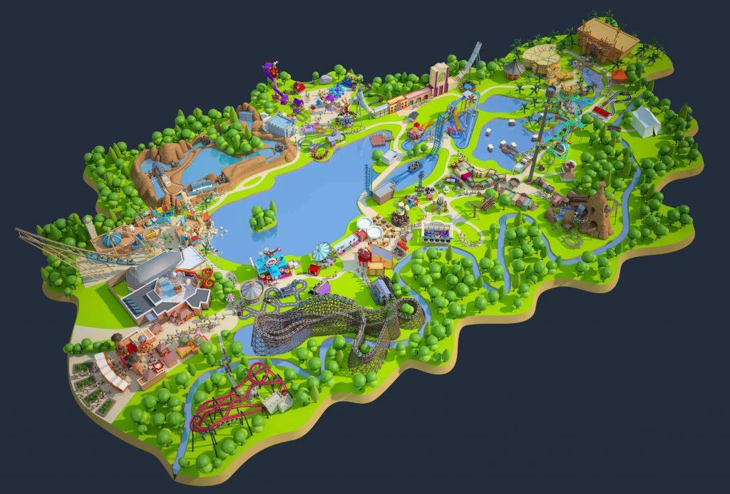 plan du parc Walibi Belgique et attractions