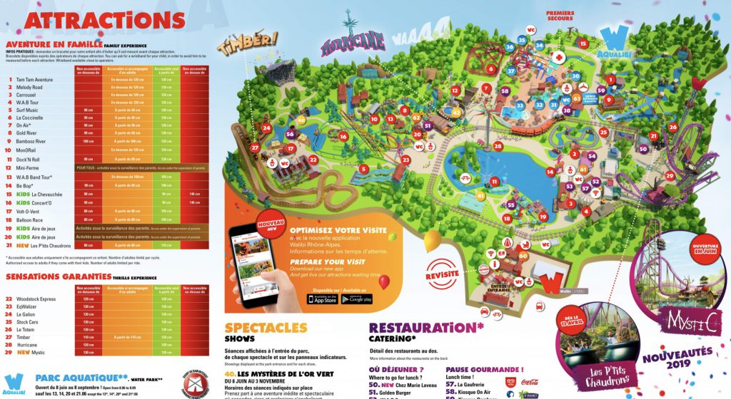 plan Walibi Rhone Alpes RA