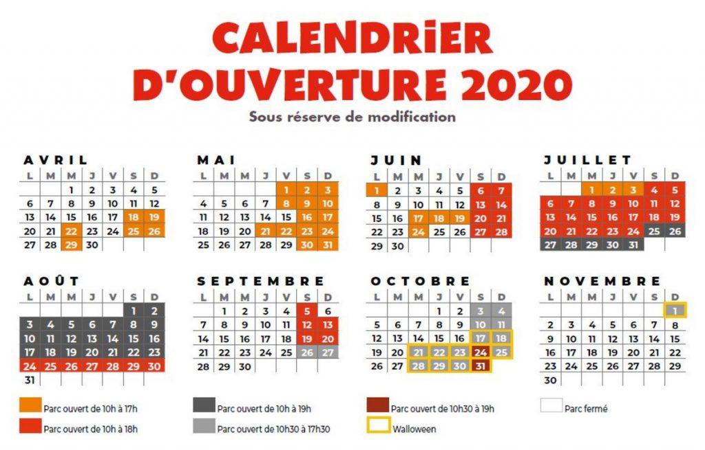 Dates d'ouverture Walibi Agen