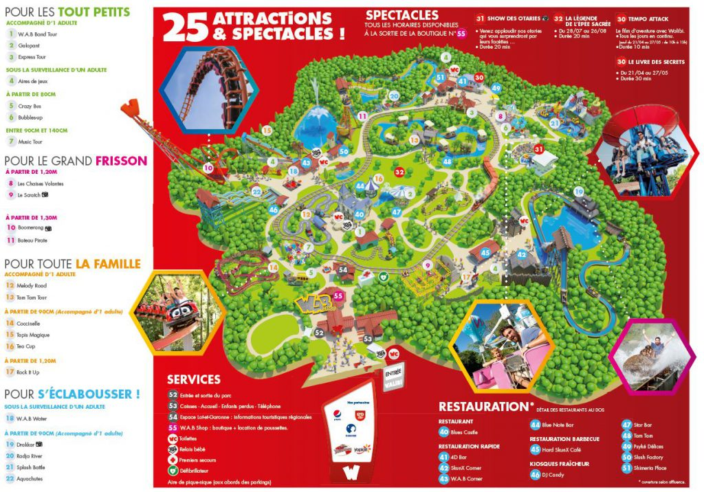 plan attractions walibi agen sud-ouest