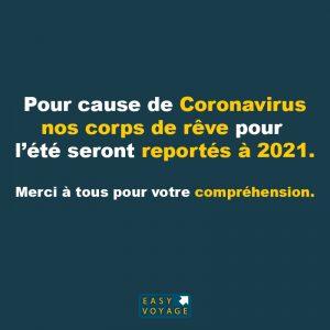 pour cause de coronavirus corps de reve reporté à 2021