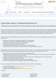 disneyalnd paris covid 19 coronavirus employee status