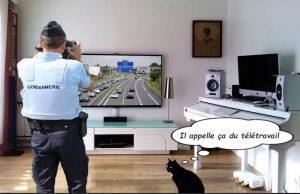 meme les gendarmes font du tele travail durant confinement coronavirus
