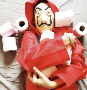 blague casa de papel coronavirus covid papier toilette pq