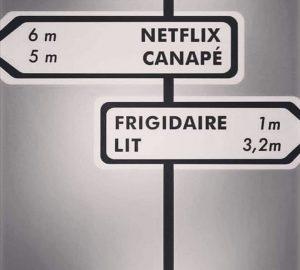 blague confinement netflix canapé frigidaire