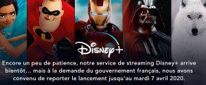 date lancement Disney Plus Disney+ en France