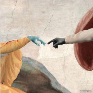 tableau celebre leonard de vinci avec des gantsx