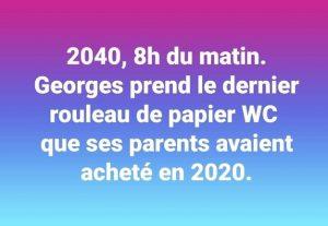 blague coronavirus penurie papier toilette PQ covid 2020
