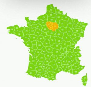 carte déconfinement zone orange zone verte date reouverture parcss 2 juin et 22 juin