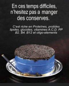 Les conserves de caviar pour le confinement