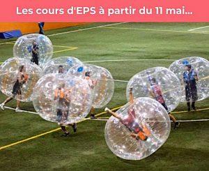 les cours de sport le 11 mai dans des bulles
