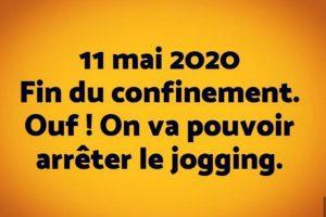 Fin du confinement, on peut enfin arrêter le jogging / footing - blague