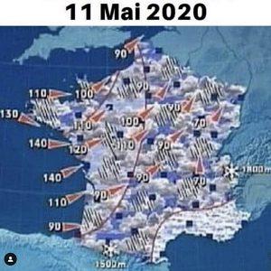 meteo 11 mai 2020 jour de sortie confinement