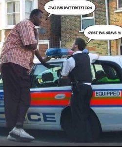 photo meme grand costaud a pas son attestation police devient compréhensive