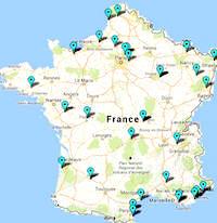 La carte de France des parcs d'attractions et de loisirs