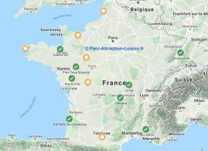 carte liste parc attrraction ouverture juin juillet 2020 après coronavirus