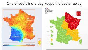 la carte du déconfinement en rouge et vert ressemble à celle de la chocolatine