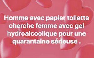 homme avec papier toilette cherche femme avec gel hydroalcoolique