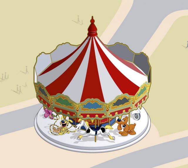 manege carrousel spirou parade au parc spirou en provence