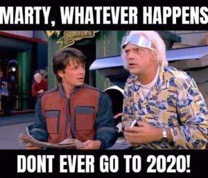 Blague meme retour vers le futur, ne va jamais en 2020