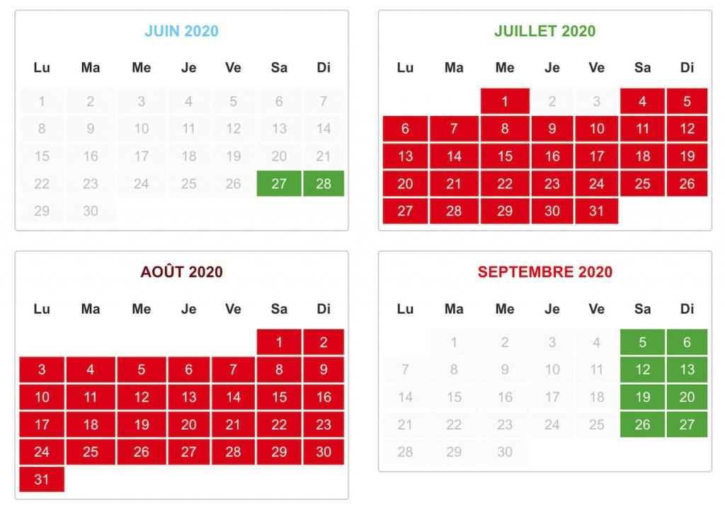 date ouverture horaire parc des naudieres 2020