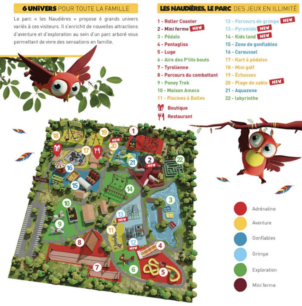 Plan parc des naudières