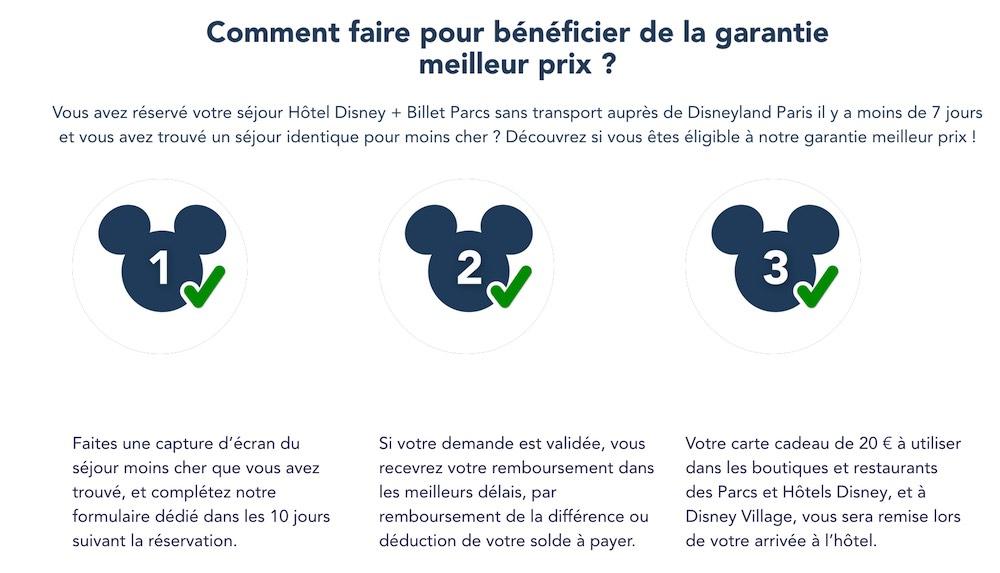 garantie prix le plus bas Disneyland paris