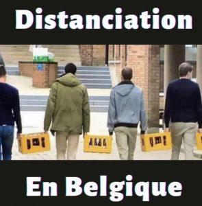 Pas encore confiné, mais bien distancié en Belgique !