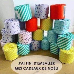 Humour convid : les cadeaux de noel PQ sont prêts et emballés
