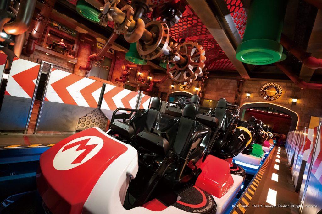 photo de la voiture Mario kart sur attractions au japon chez super nintendo world universal