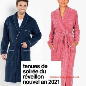 tenue de soirée du réveillon du nouvel an 2021 peignoir de bain