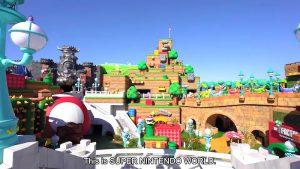 vue d'ensembre du parc nintendo world japan universal studios