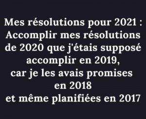 bonnes résolutions marrantes 2021 1er de l'an réveillon covid