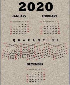 Calendrier de 2020, une année compliquée