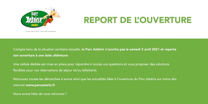 date ouverture parc asterix 2021 suite covid