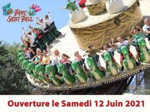 date ouverture parc saint paul 2021 calendrier