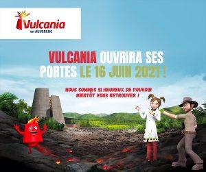 date reouverture parc Vulcania auvergne